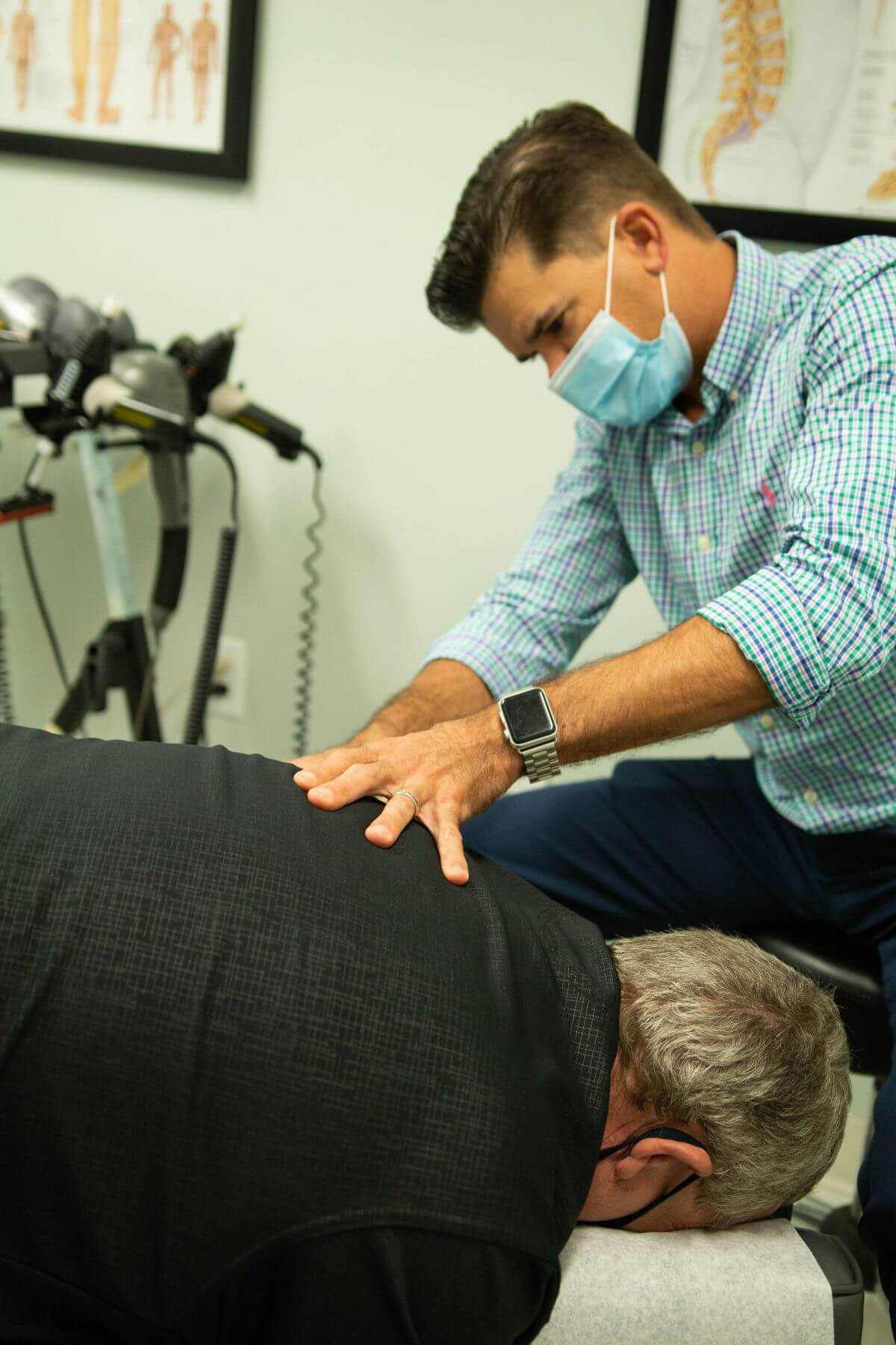 Picture of Dr. Schoch using spinal decompression in Fort Pierce, FL